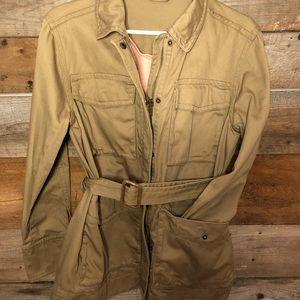 J crew small utility cotton w belt jacket